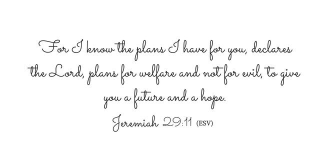 Image of Jeremiah 29 verse 11