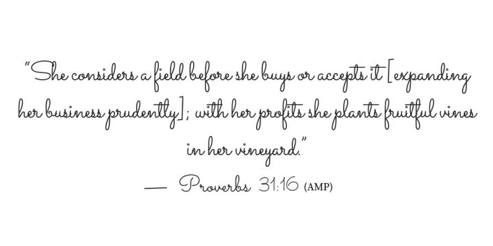 Proverbs 31 verse 16