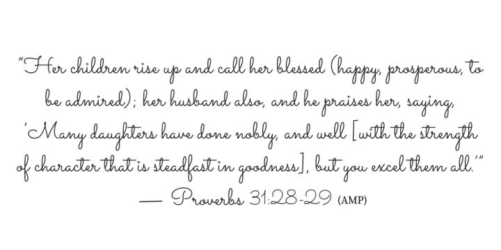 Proverbs 31 verse 38-29
