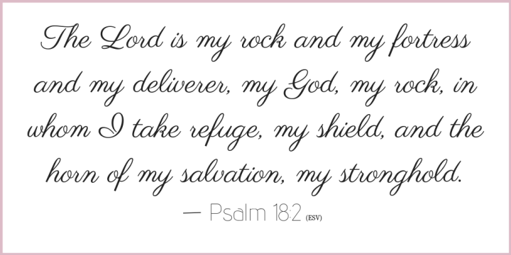 Psalm 18 verse 2