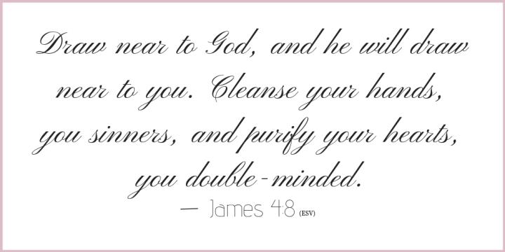 James 4 verse 8